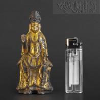 唐代铜鎏金弥勒佛