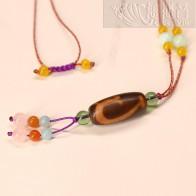 五色繩天珠項鏈-綠度母