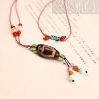 五色繩天珠項鏈-寶瓶