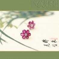 朵朵美好-紅寶石耳環