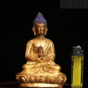 西藏銅鎏金長壽佛