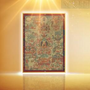 《佛陀的一生》唐卡 (小)