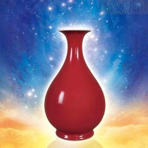 霽紅福慧寶瓶