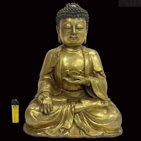近代阿彌陀佛鑄銅像