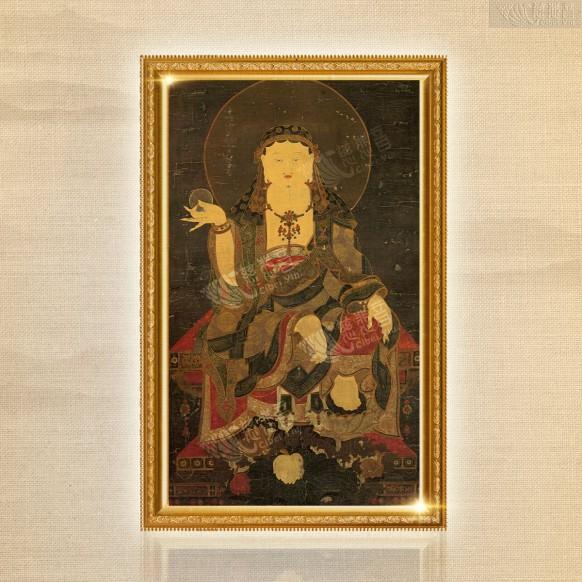 地藏王菩薩古唐卡(複製版)- 大