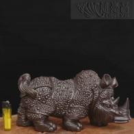 铜质盔甲犀牛摆件- 古铜色单个贩售
