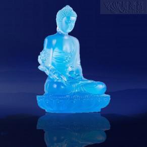 殊胜琉璃药师佛像-天蓝色(小)