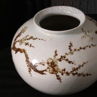 Grandmaster JinBodhi's Antiquities Collections-Russet-painted Plum Blossom Big Jar