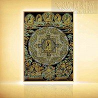 Eastern Lapis Lazuli World Gold Thangka (small)