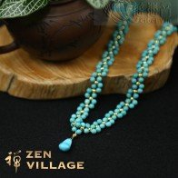 Turquoise Gold Bead Necklace