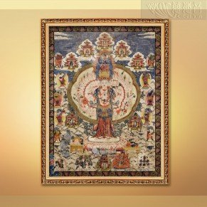 Eleven-faced Guanyin Bodhisattva Ancient Thangka