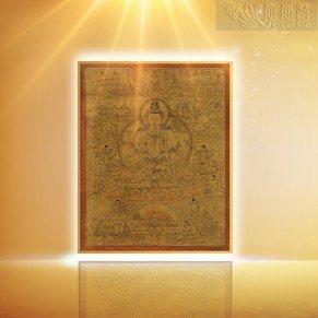 The Ming Dynasty Four-Arm Guanyin Bodhisattva Golden Thangka(Big)