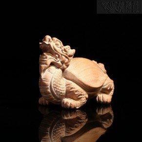 Handheld Wooden Dragon-head turtle