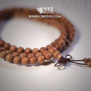 Sandalwood 108 chating beads-6mm