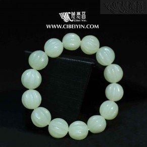 Jade melon beads bracelet