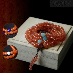 Southern Red Agate 108 prayer beads