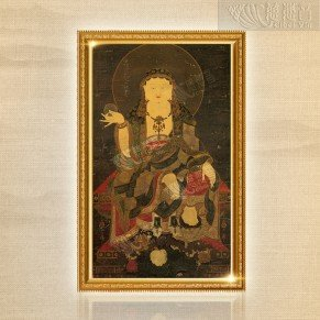 Earth Store Bodhisattva Ancient Thangka (printed copy) - Large
